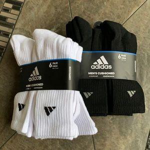 2packs-6pairssocks set Adidas Men's Cushioned Crew
